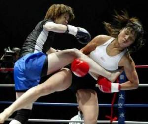 Detalle de combate de Sanda femenino